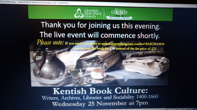 Celebrating Kentish Book Culture and other Centre matters