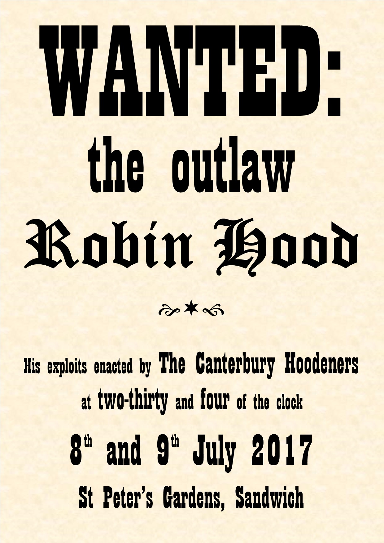 Wanted: The Outlaw Robin Hood