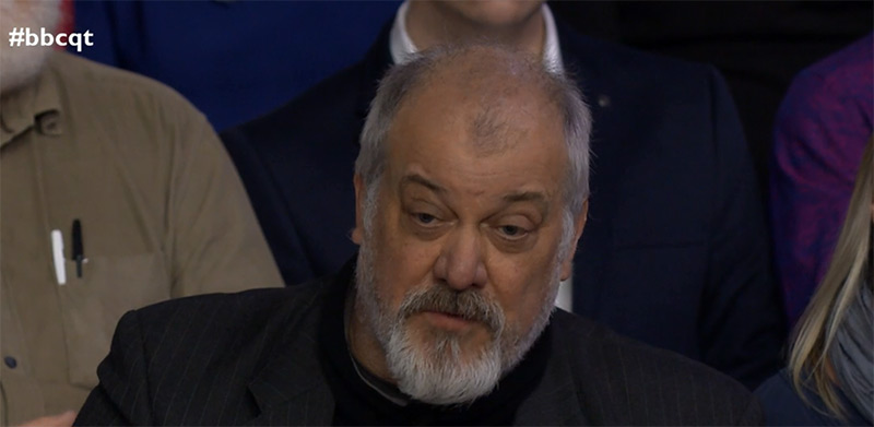 My TV Debut on Question Time