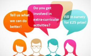 Student Opportunities - Give us your feedback and you could win £25 gift voucher!