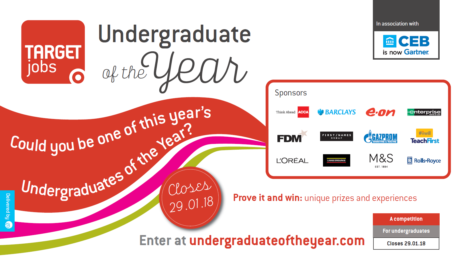 Undergraduate of the Year Awards 2018! - Closing 29th January