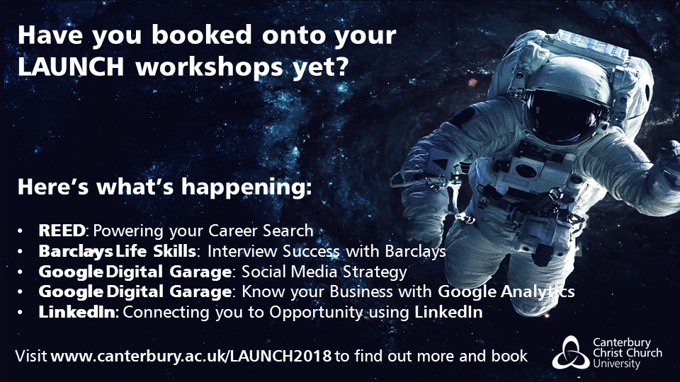 Make Like a Spaceman and LAUNCH into your career on 6th June! 👨🚀