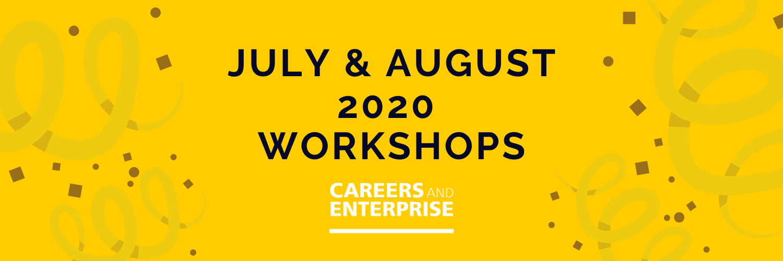 Careers & Enterprise Hub Summer Workshops - Get Involved!
