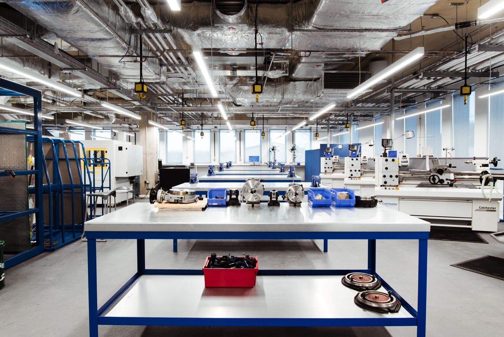 A Glimpse Inside the Verena Holmes Building Engineering Workshop