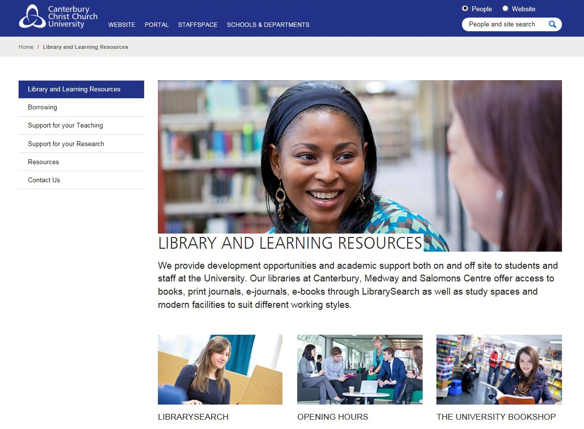New Library and Learning Resources site for staff now available via StaffNet
