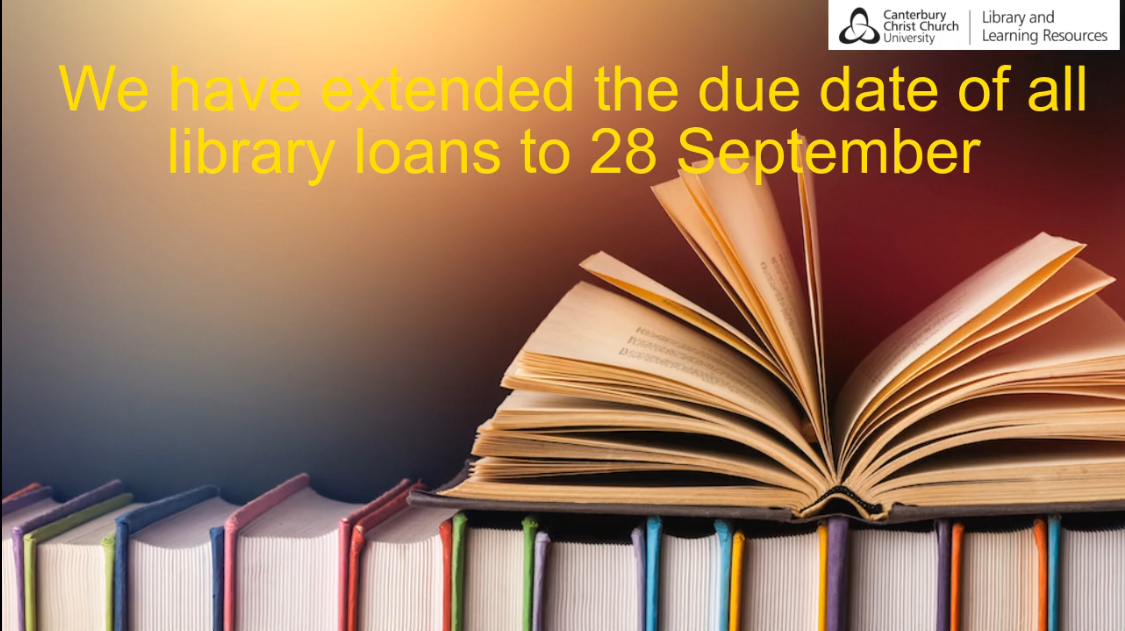 Library items now due on 28 September