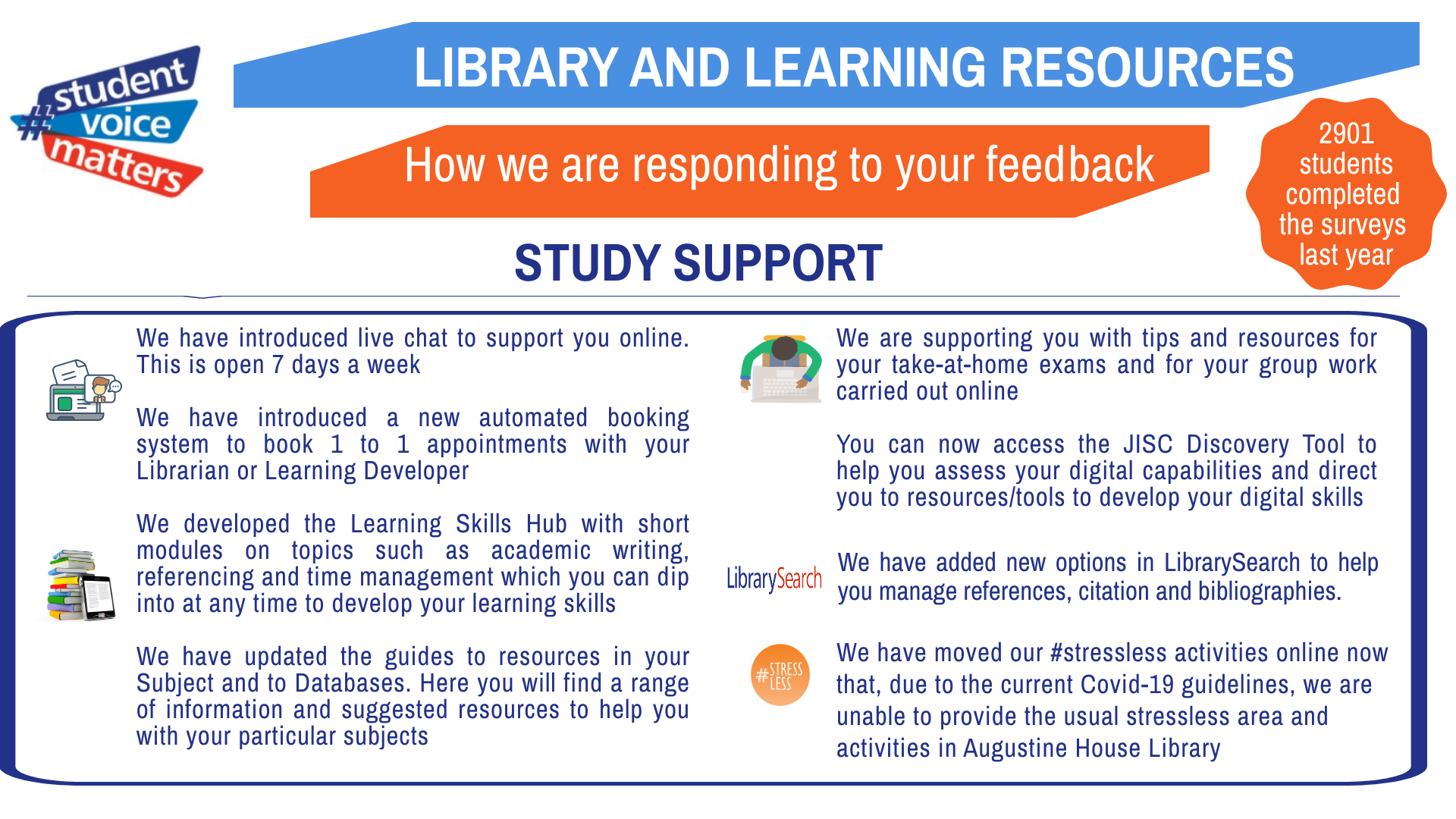 Improving your library… In an unprecedented year – Part 3: Study support